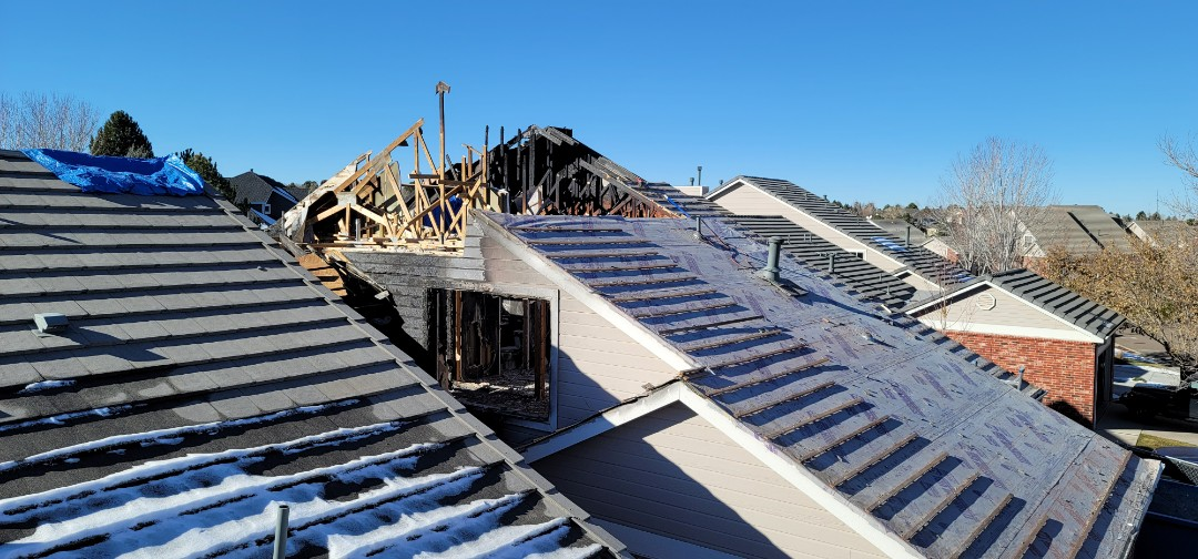 Lone Tree, CO - We are doing a roof replacement inspection for this townhome in Masters Park in Lone Tree