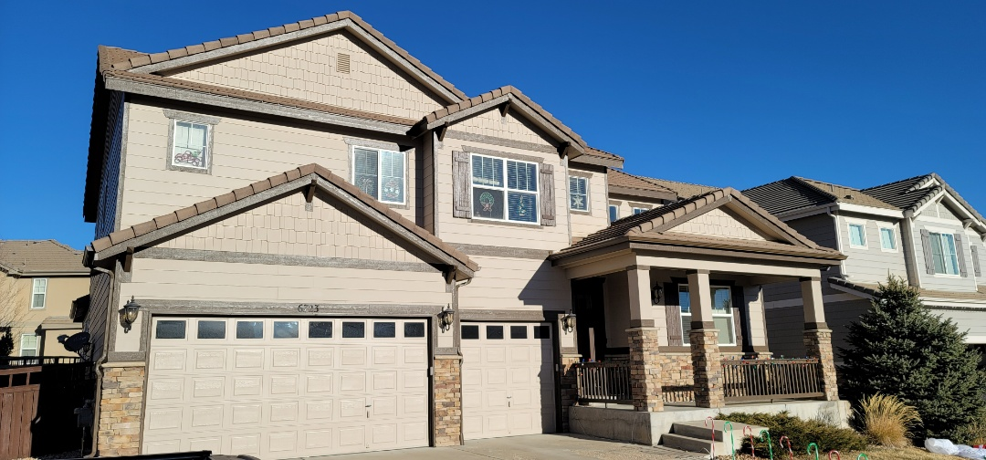 Castle Rock, CO - We are doing a roof inspection for a concrete tile roof in Castle Rock, CO