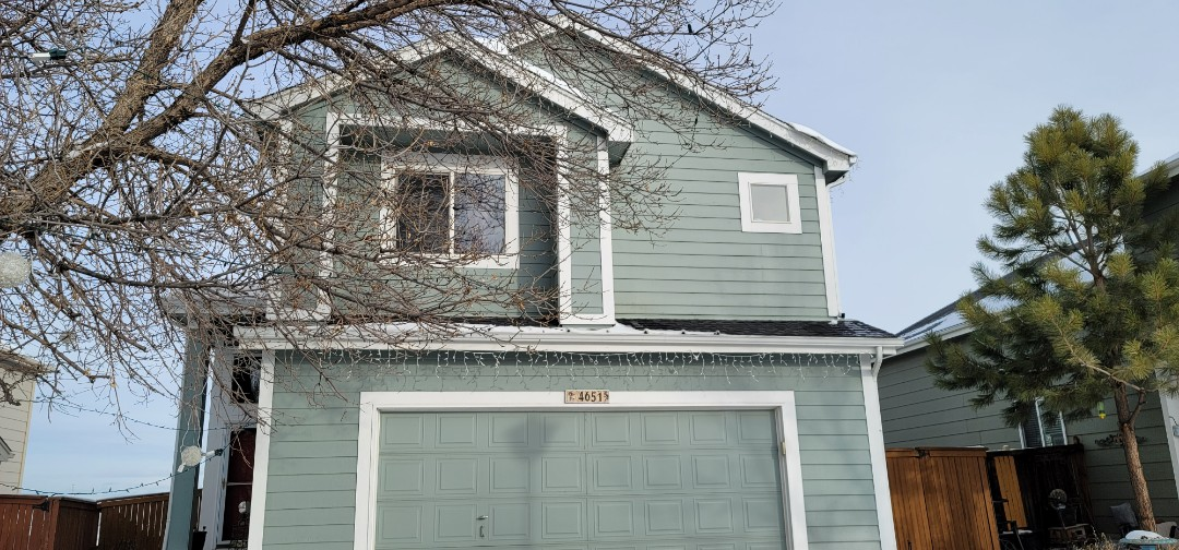 Littleton, CO - We are doing a bid for new gutters on this deck in Littleton