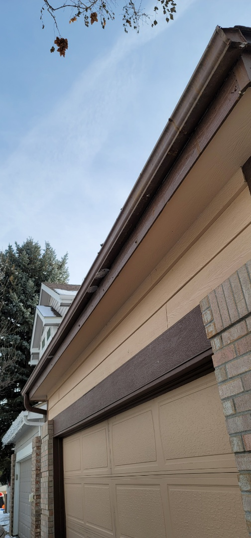 Parker, CO - We are doing a gutter replacement for this house in Parker that has 30 year old steel gutters that have rusted out.