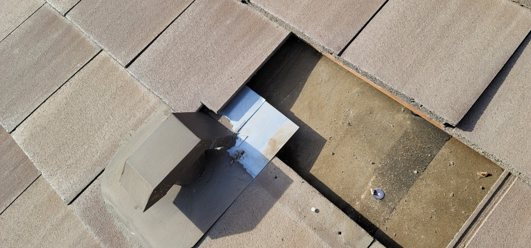 Parker, CO - We are doing a roof inspection for a roof leak on this concrete tile roof in Lone Tree