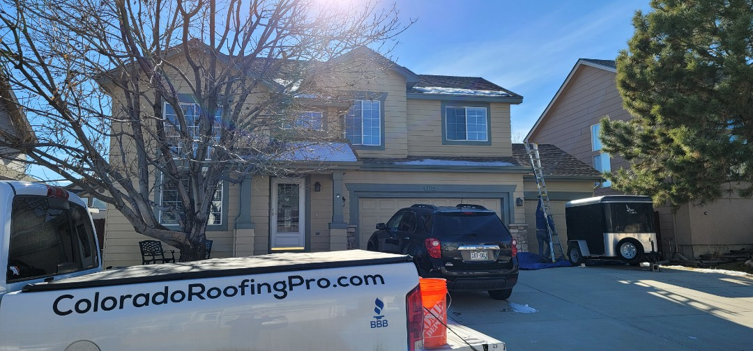 Littleton, CO - We are doing a gutter cleaning for this house in Littleton