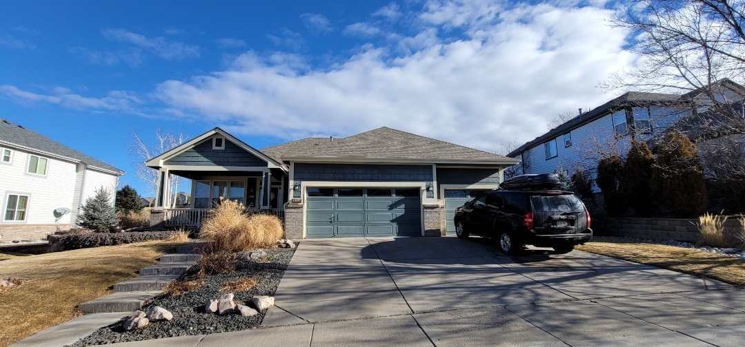 Aurora, CO - We are doing a gutter inspection and a gutter replacement quote for this house in Aurora that has steel gutters that were rotting out and need to be replaced