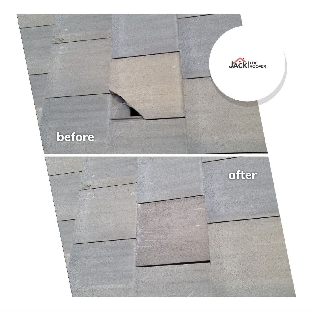 Parker, CO - We are doing a concrete tile roof repair today in Parker