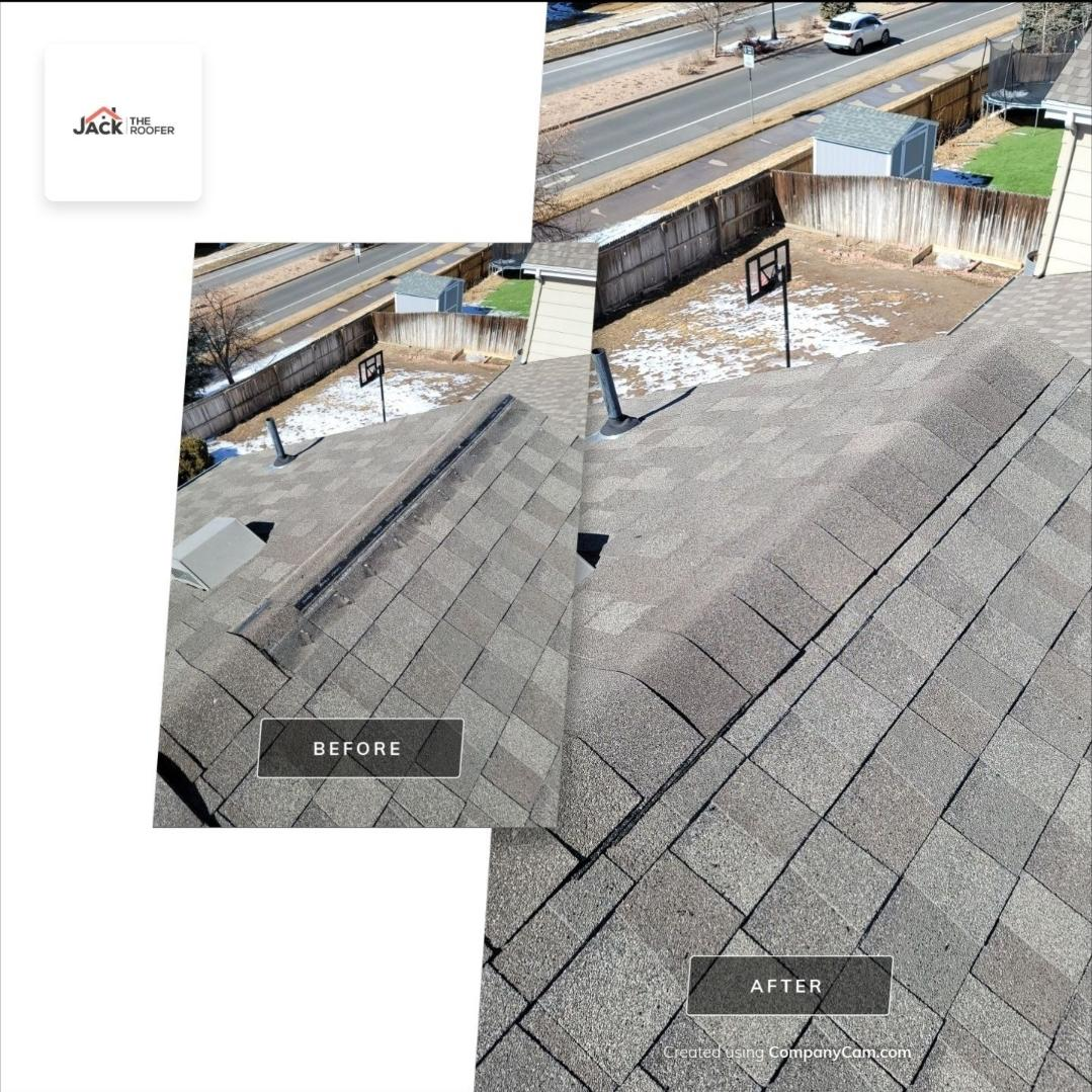 Littleton, CO - We are doing a roof repair for this house in Parker that had some shingles that blew off in a recent wind