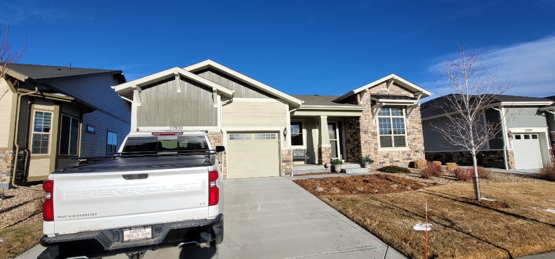 Parker, CO - We are doing a roof repair for this house in Aurora that is on the market to be sold and had roofing issues as part of their inspection objection.