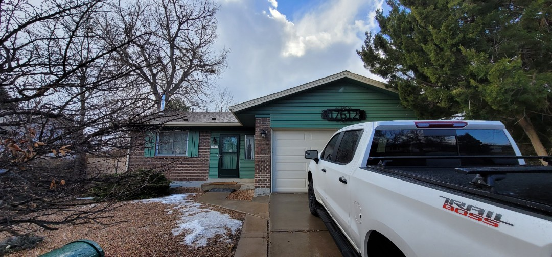 Aurora, CO - We are doing a gutter inspection for this house in Aurora that needs a section of new gutters installed due to them leaking