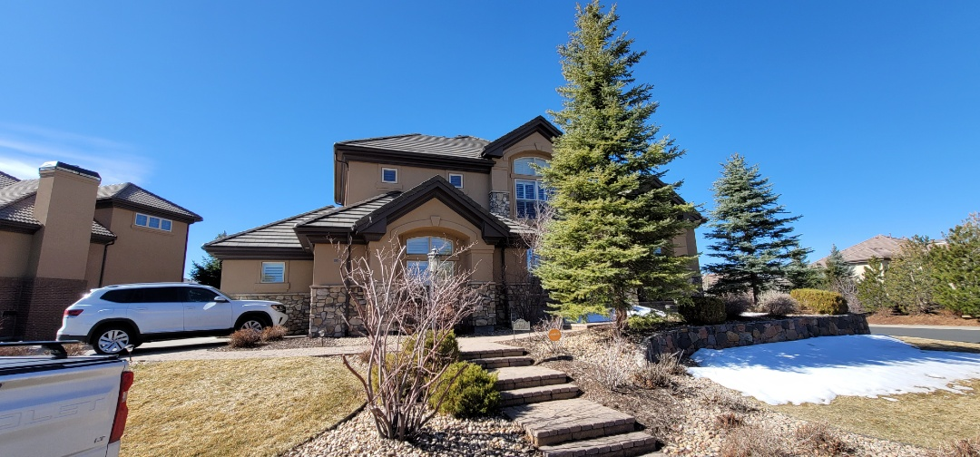 Lone Tree, CO - We are doing a roof inspection for this house in Line Tree that has a leak in the concrete tile roof