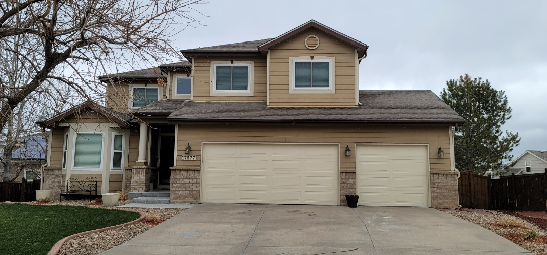 Parker, CO - We are doing a gutter inspection for this house in Parker that needs new gutters and new downspouts