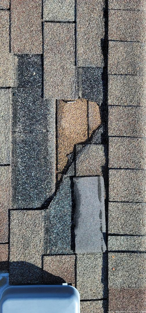 Parker, CO - We are doing a roof inspection for this house in Parker that needs a full new roof. The insurance company is fighting with him about roof replacement but it needs it due to age and due to previous hail storms and most recently, a windstorm that tore off a few shingles