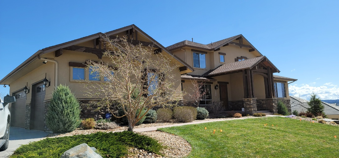 Parker, CO - We are doing a roof inspection for this house in Parker that has a roof leak after the recent rain storms