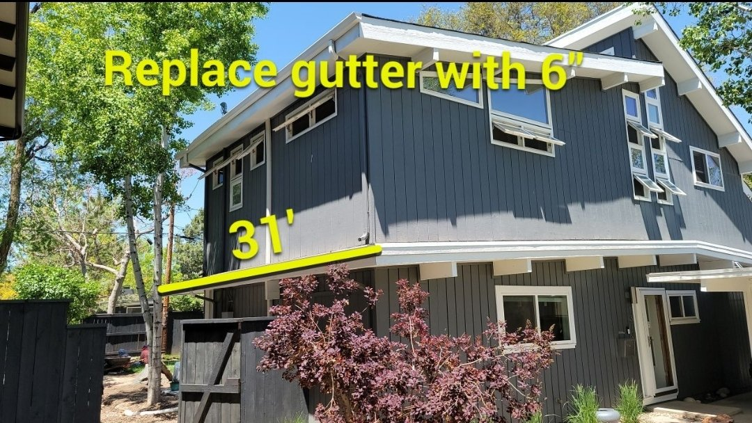 Denver, CO - We are doing a gutter replacement for this house in Denver that has been having trouble with the recent rains flooding into his basement due to the gutters being unable to accommodate the rainfall