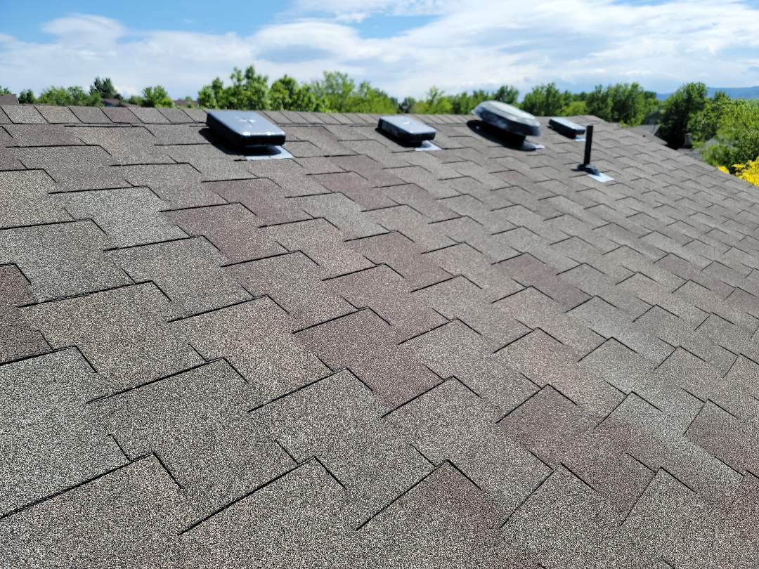 Littleton, CO - We are doing a roof inspection for this house in Highlands Ranch that has an old asphalt roof. We are advising a full roof replacement