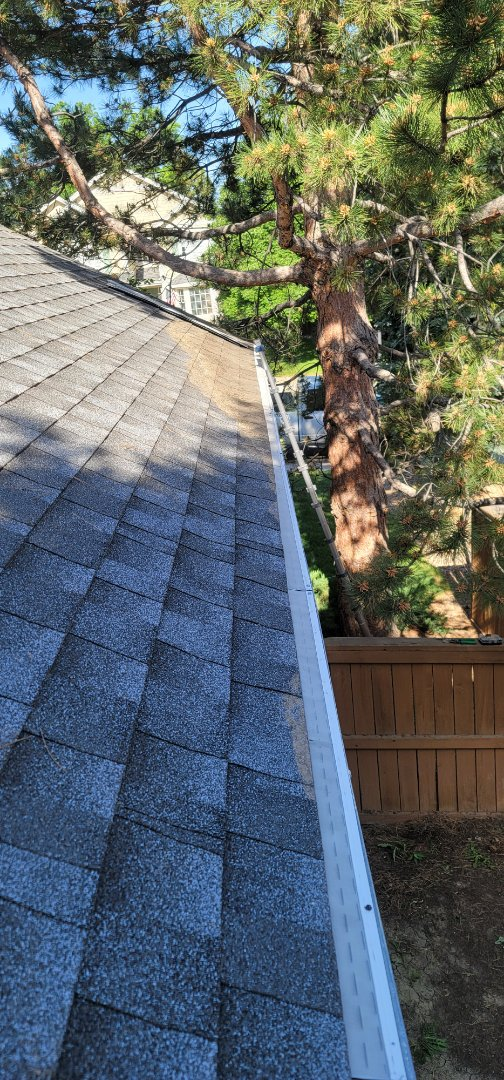 Highlands Ranch, CO - We cleaned out gutters and installed new gutter screens on this house in Highlands Ranch