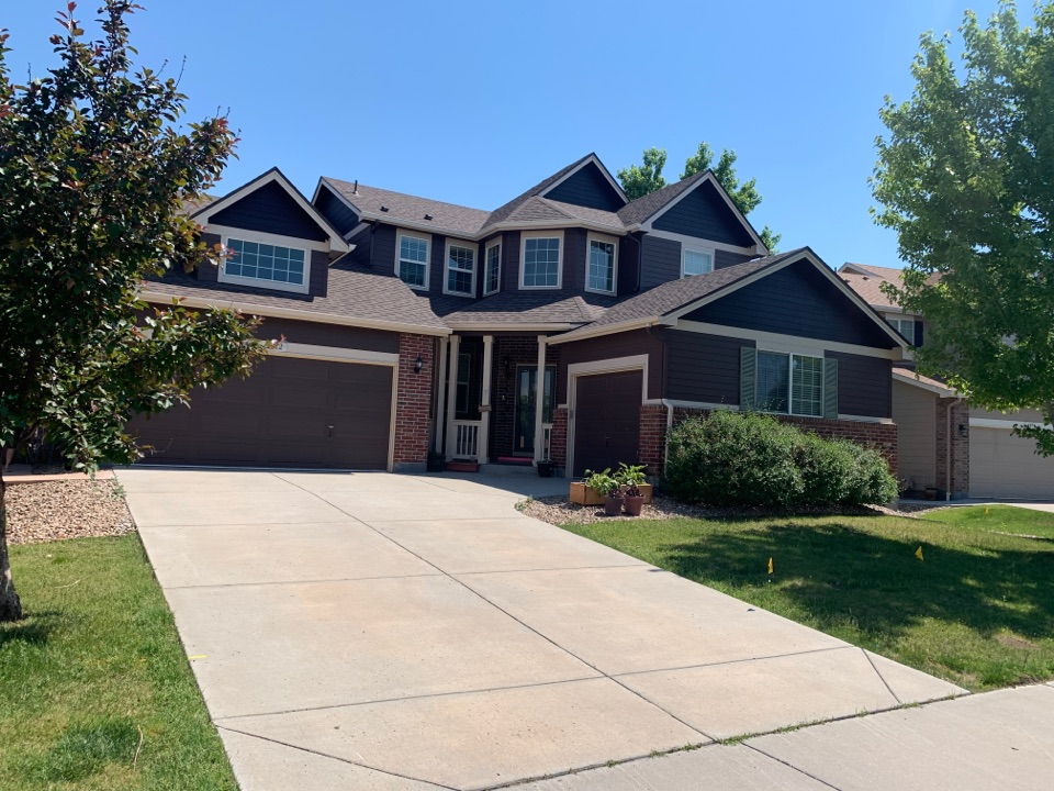 Aurora, CO - Putting some new gutters up.