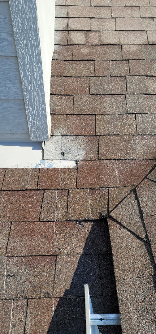 Castle Rock, CO - We are doing a roof inspection for a roof leak for this house in Castle Rock that has water coming in from a piece of flashing that was installed improperly