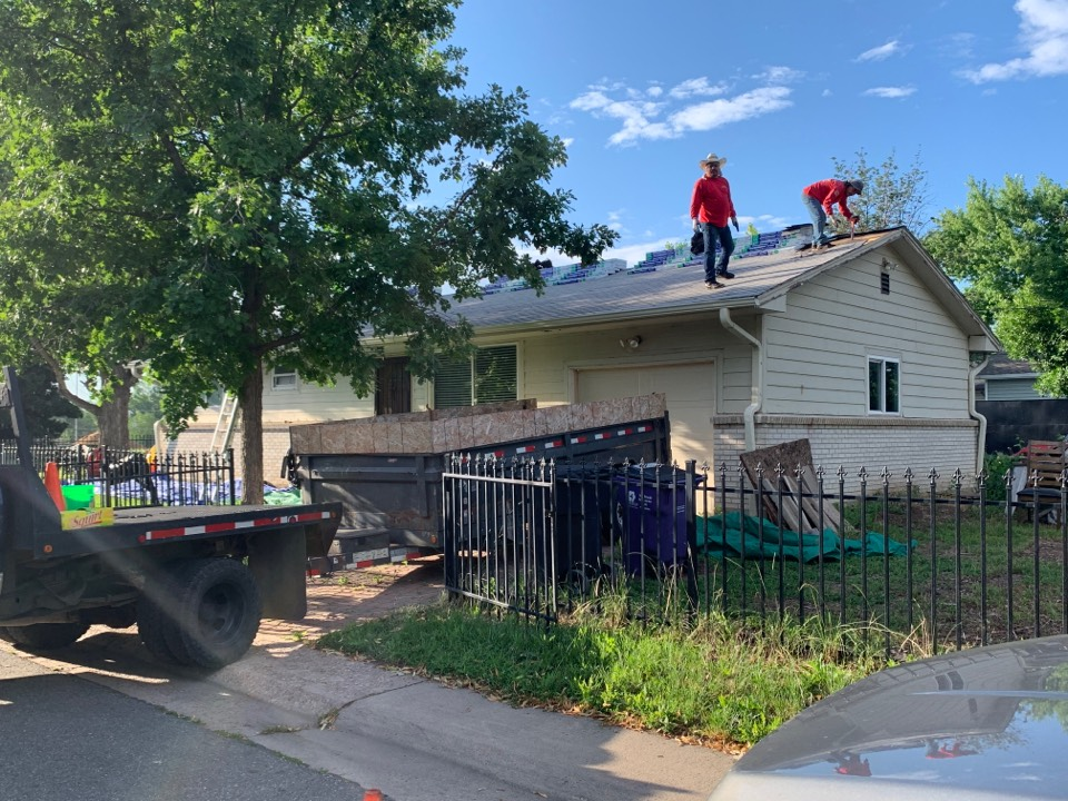 Denver, CO - New roof, gutters and soffit replacement. Making it look new again.