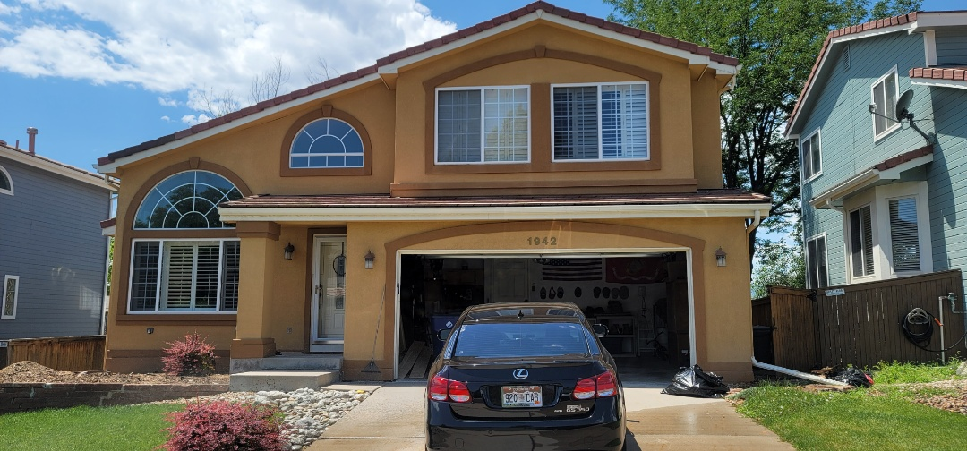 Littleton, CO - We are doing a soffit and fascia inspection for this house in Highlands Ranch for a previous customer to do some touch-up work before the house is painted and sold