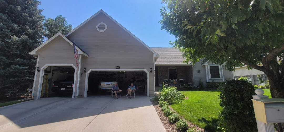 Aurora, CO - We are doing a roof inspection for this house in Aurora that has a leaking skylight. The roof is also in bad shape and we are looking at possible roof replacement in addition to fixing the leak around the skylight