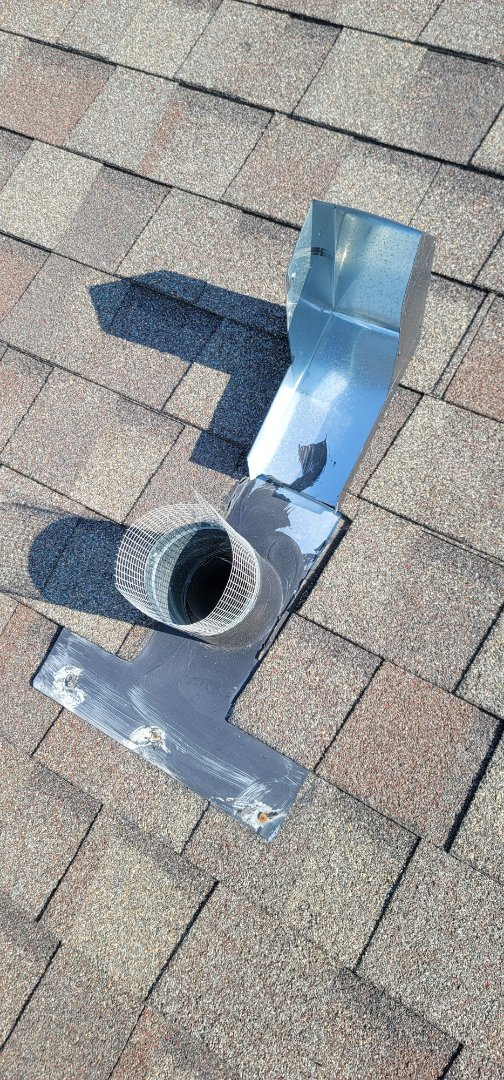 Aurora, CO - We are doing a roof inspection and a roof repair for this house in Aurora that has a vent that was broken in the wind. We are doing a repair to the vent instead of replacing it due to the homeowners wishes