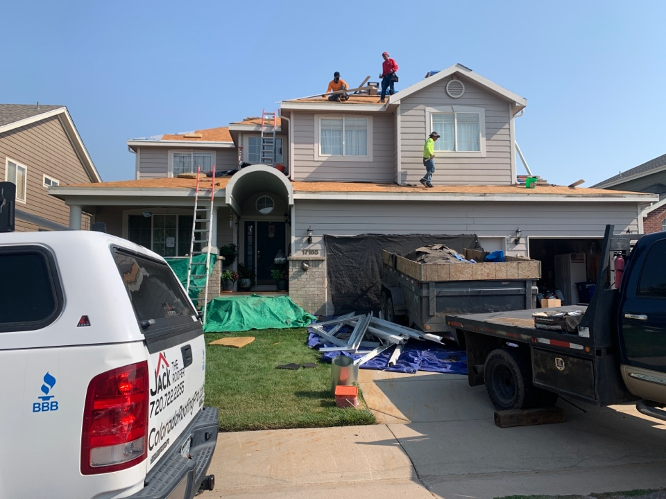 Parker, CO - Installing a new roof here.