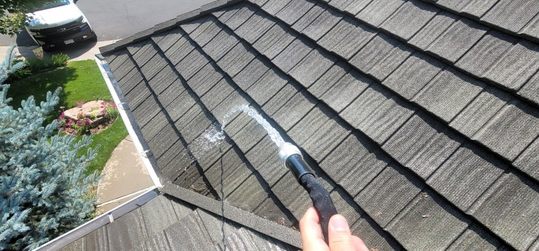 Littleton, CO - We are doing a roof inspection for this metal roof in Highlands Ranch that had a roof leak