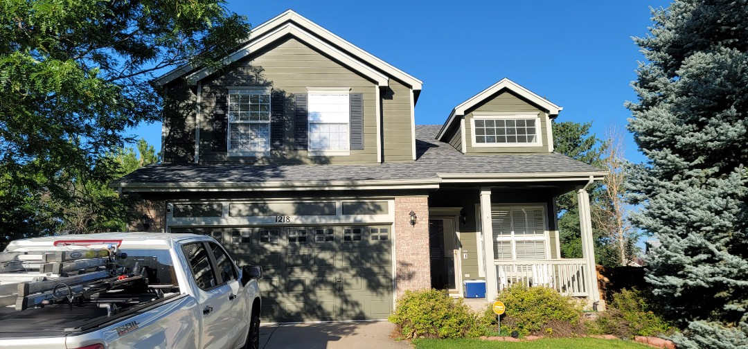 Littleton, CO - We are doing a roof inspection for this house in Littleton that has a roof leak over the garage