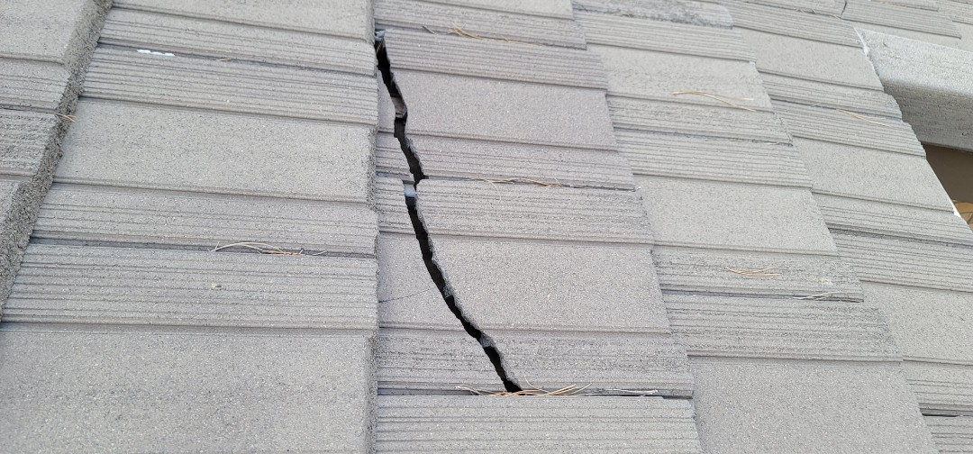 Parker, CO - We are doing a roof repair on this concrete tile roof in Parker that has broken roof tiles