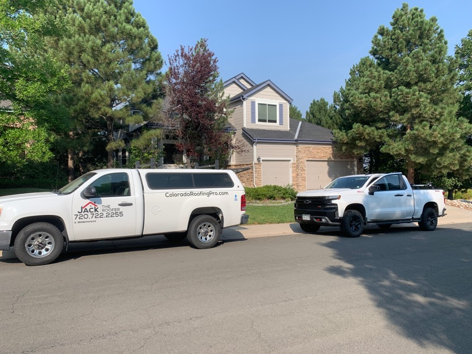 Lone Tree, CO - Repaired 7 pipe-Jack's and cleaned all gutters. They're ready for winter.