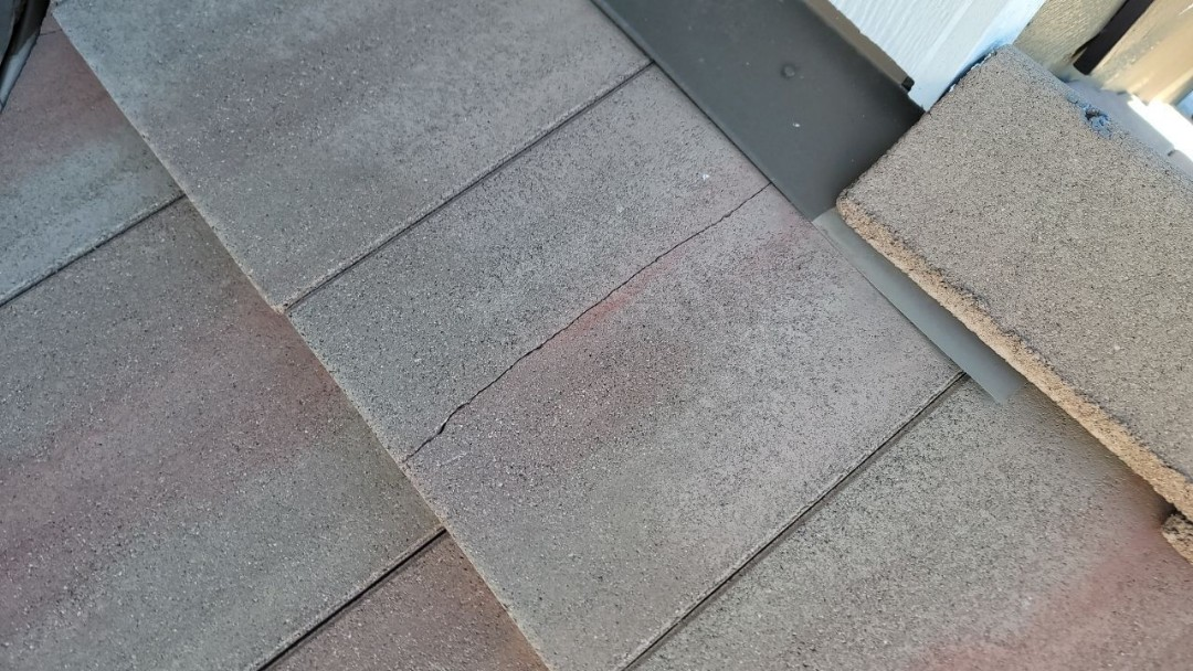 Parker, CO - We are doing a roof inspection for this house in Parker that has broken roof tiles after painters came and painted the house