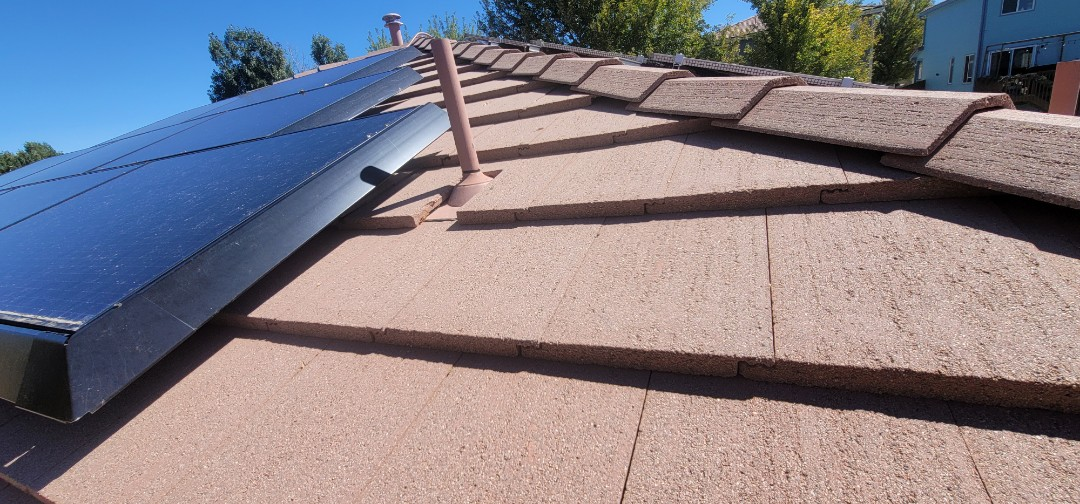 Littleton, CO - We are doing a roof inspection for this concrete tiled roof in Highlands Ranch that has a roof leak