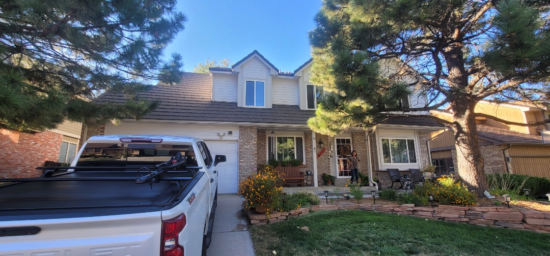 Lone Tree, CO - We are doing a gutter inspection for this house in Lone Tree that needs new gutters and new downspouts