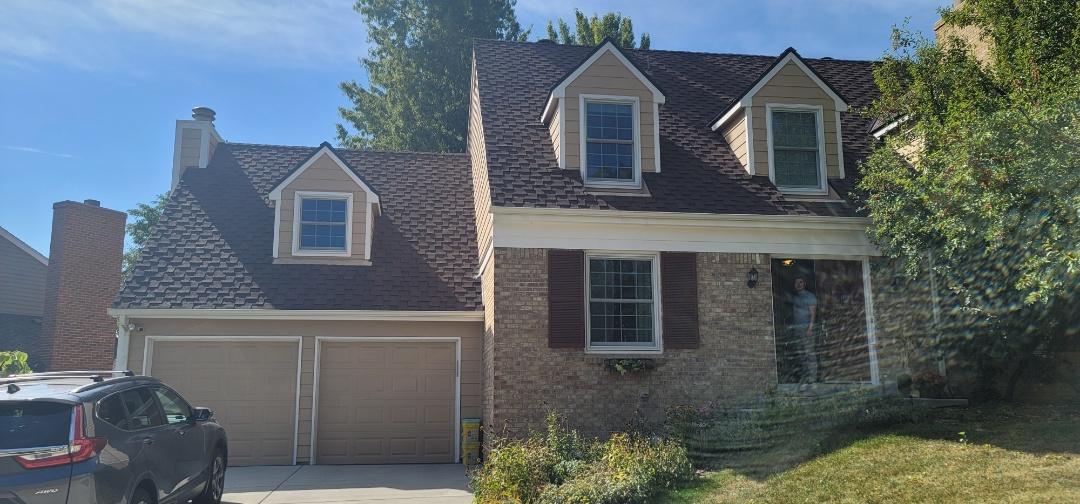 Centennial, CO - We are doing a roof repair for a chimney Chase that was leaking on this house in Centennial