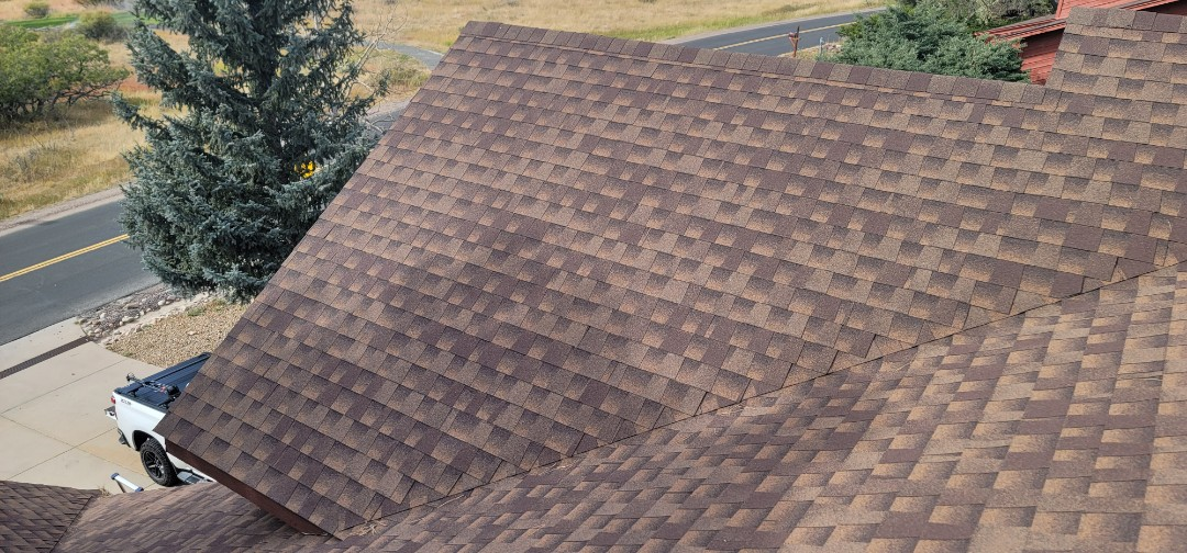 Parker, CO - We are doing a roof inspection for this house in Parker that needs full roof replacement because the insurance company approved a new roof after a hail storm last month
