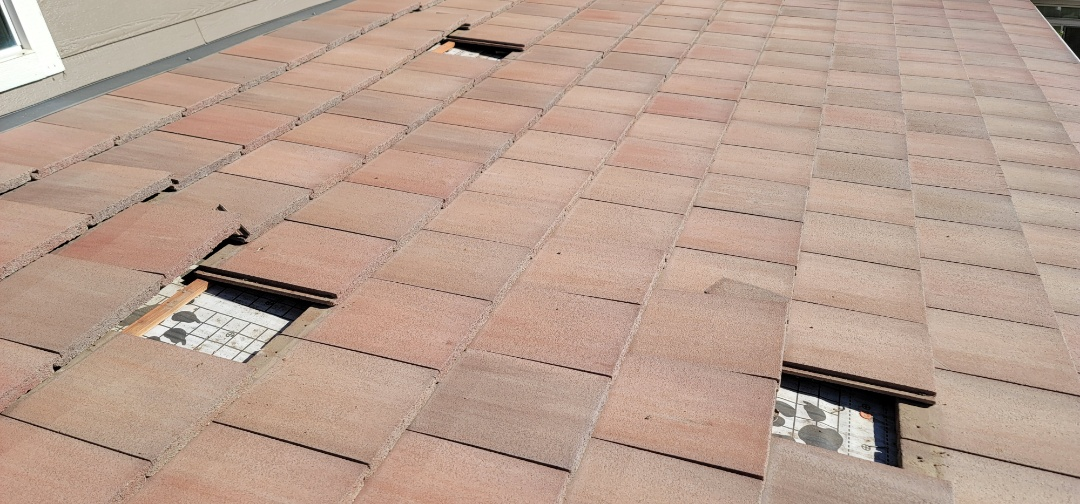 Littleton, CO - We are doing a roof repair for this concrete tile roof in Littleton