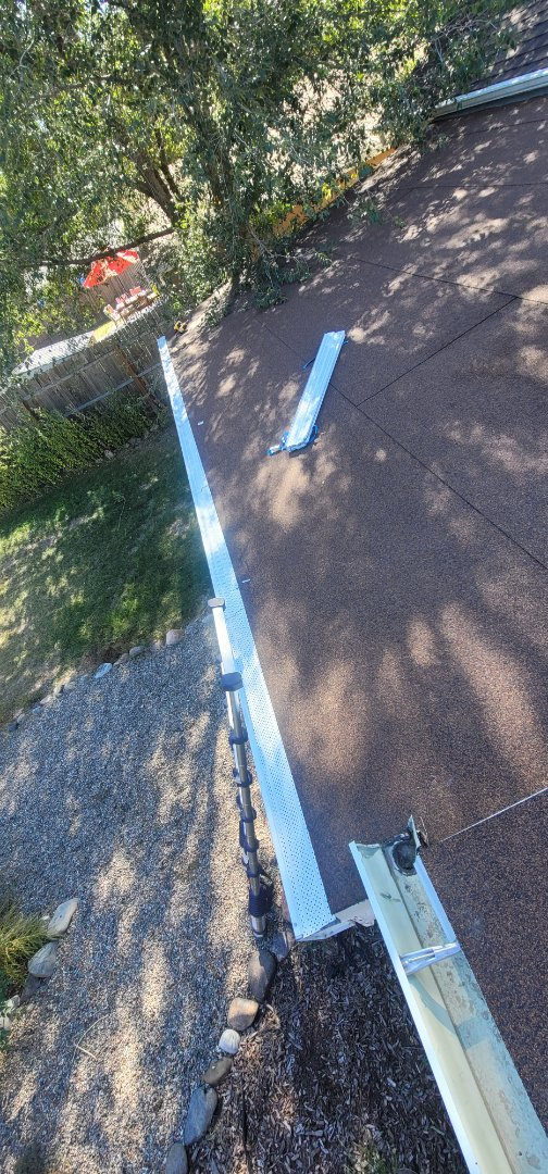 Colorado Springs, CO - We are installing gutter screens on this house in Colorado Springs