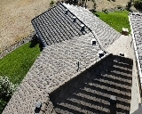 Ponderosa Park, CO - We are doing a roof repair proposal for this concrete tile roof that has broken roof tiles