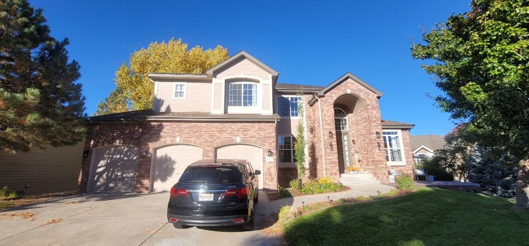 Parker, CO - We are doing a gutter cleaning for this house in Parker