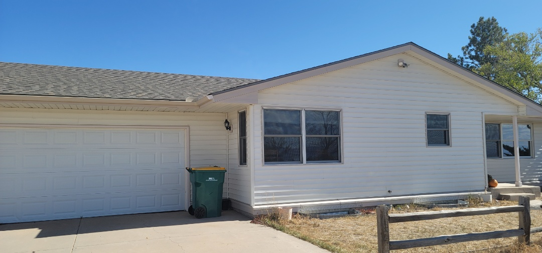 Colorado Springs, CO - We are installing gutter screens and doing gutter cleaning for this house in Colorado Springs