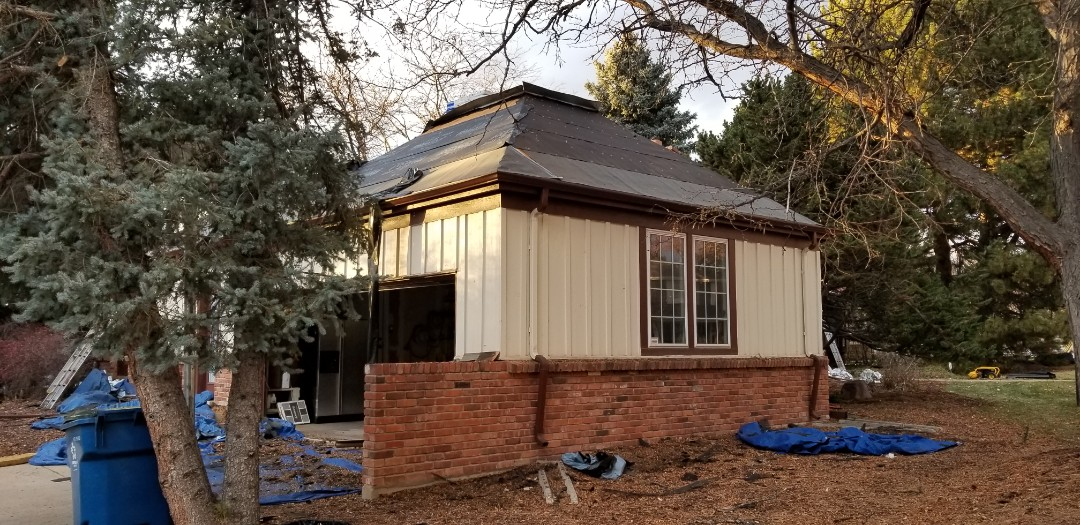 Greenwood Village, CO - We are removing an old wood shake roof and installing a new roof with CertainTeed Presidential Shake Class 4 Impact Resistant shingles.