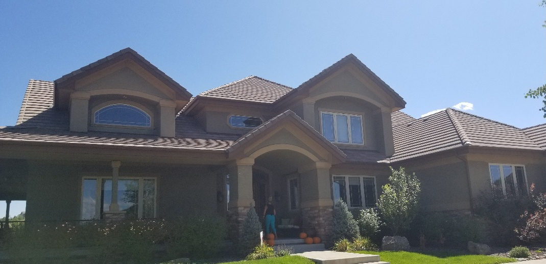 Parker, CO - Remove and replace broken concrete roof tiles