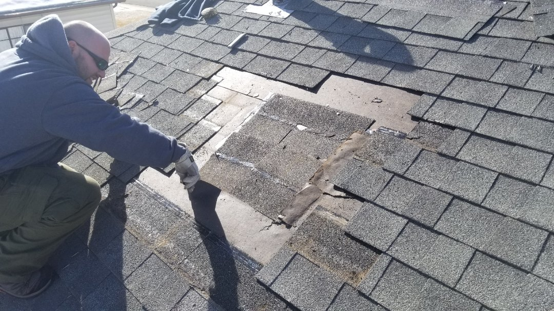 Parker, CO - We completed a small shingle roof repair today where a swamp cooler was removed and not shingled correctly. We did a full roof inspection and sealed some pipes and other minor work to get this roof good for the winter.