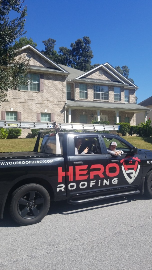Atlanta, GA - Did a full roof inspection found multiple hail damage shingles insurance will pay for this roof to be replaced Hero Roofing strikes again!!