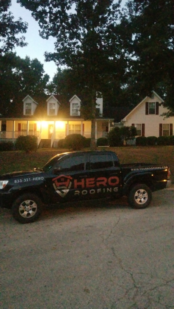 McDonough, GA - Installing a new GAF Timberline HDZ Pewter Gray roof this morning