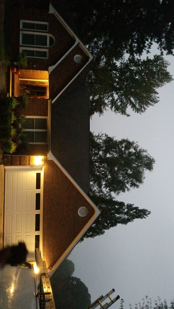 Newnan, GA - Installing a brand new GAF Timberline HDZ Pewter Gray roof this morning