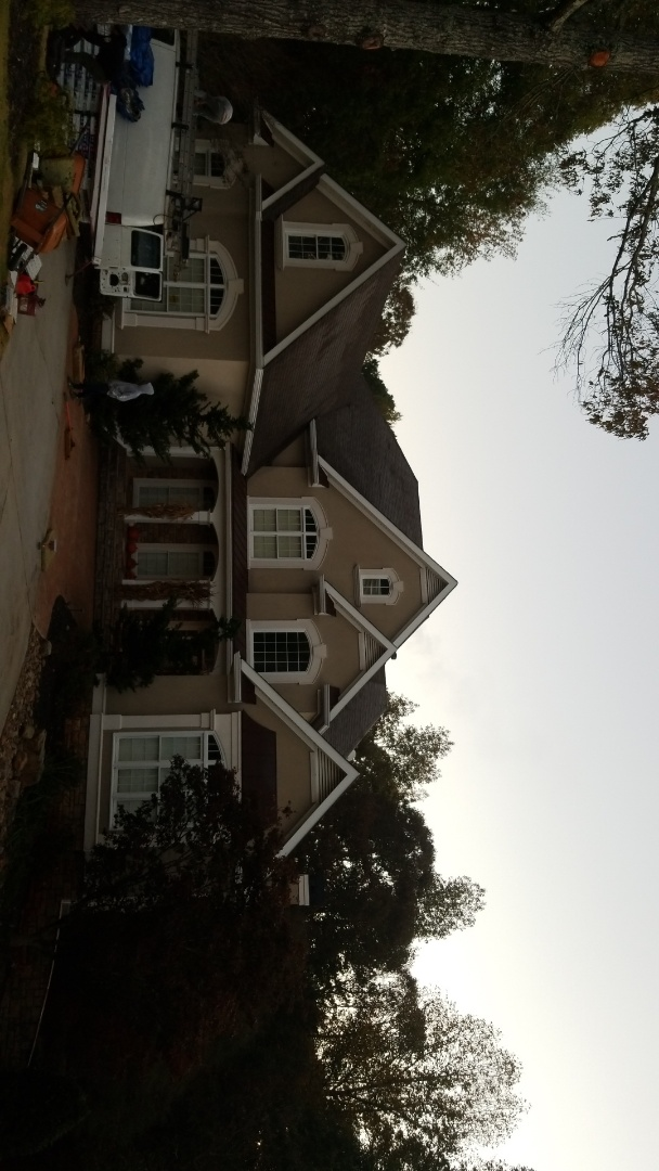 Peachtree City, GA - Installing a brand new GAF Timberline HDZ Weathered Wood roof this morning