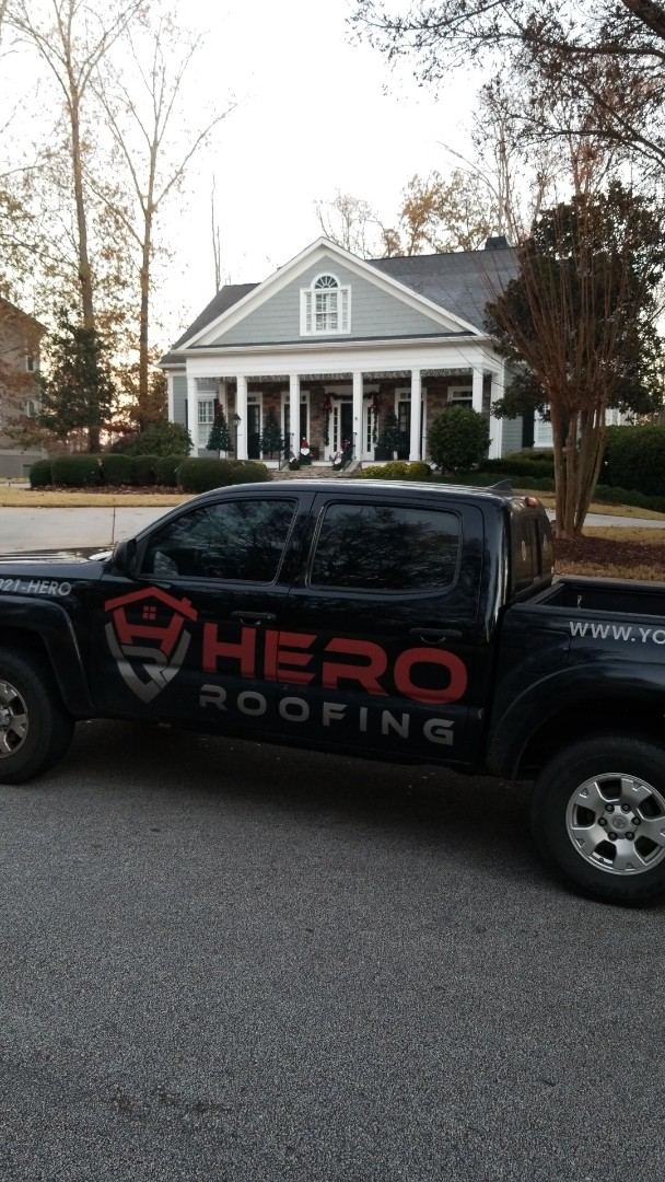 Fayetteville, GA - Installing a brand new GAF Timberline HDZ Charcoal roof this morning