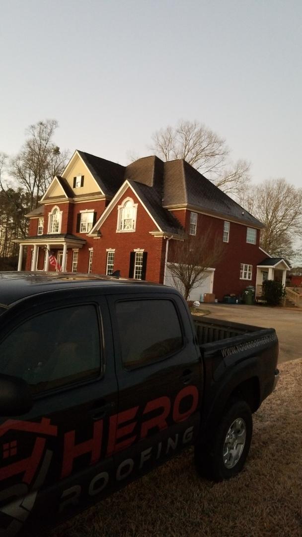 Sharpsburg, GA - Installing a brand new GAF Timberline HDZ Charcoal roof this morning