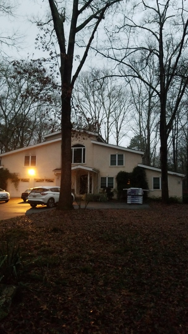 Tyrone, GA - Installing a brand new GAF Timberline HDZ Pewter Gray roof this morning