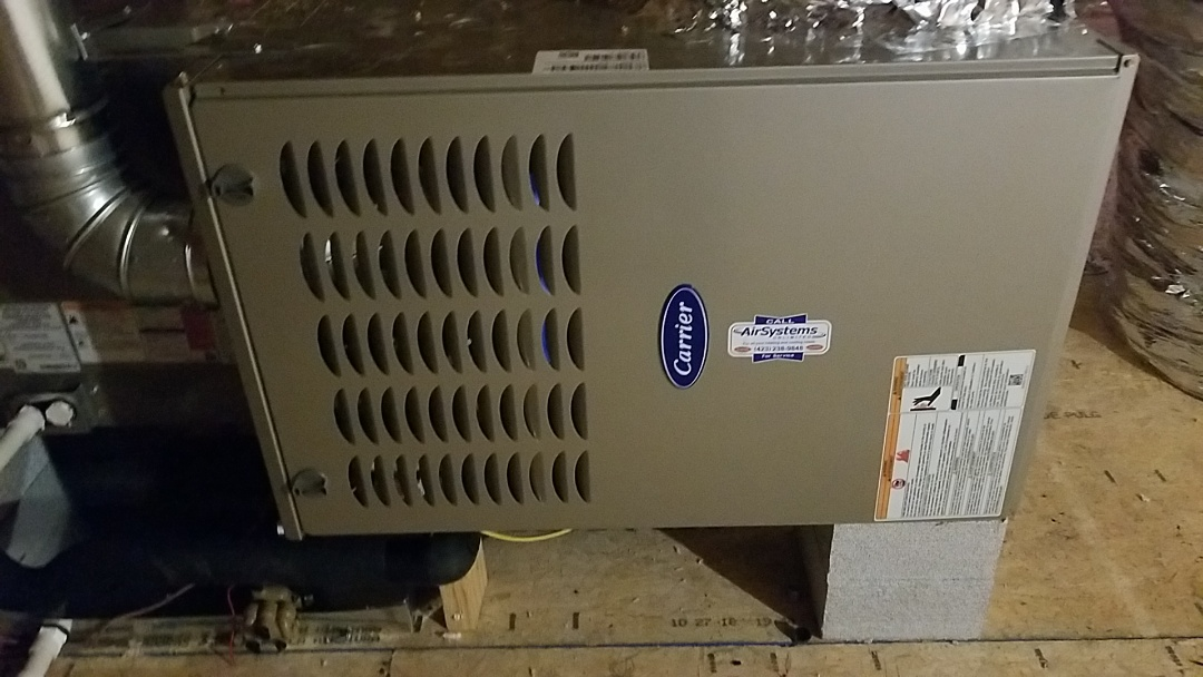 Apison, TN - Installation call. Performed install of Carrier furnace